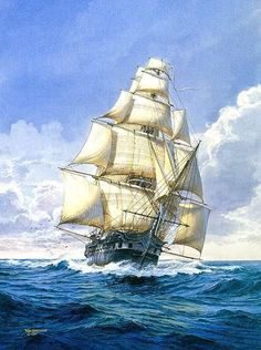 USS-Constitution: Some poor swabies had to go aloft to place the stun sails and the extra yards.  I hope it was worth it.