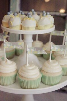 Image result for mint green baby shower cupcakes