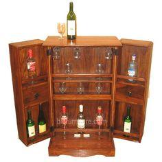 Wooden mini small bar