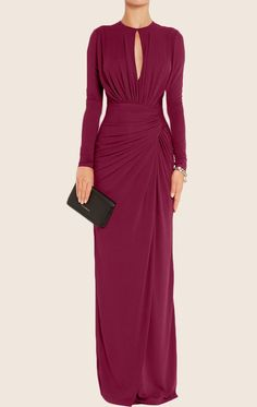 MACloth Sheath Long Sleeves Jersey Maxi Evening Formal Gown Mother of the Brides… MACloth Mantel Langarmtrikot Maxi Abendkleid Mutter der Bräute Kleid Modest Dresses, Tight Dresses, Simple Dresses, Elegant Dresses, Cute Dresses, Sexy Dresses, Summer Dresses, Sparkly Dresses, Modest Clothing