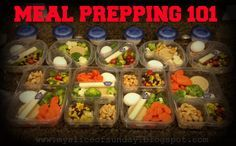 Meal Prepping tips, tricks and recipes for the week! Great way to start living a healthier lifestyle and eating clean - *My Slice of Sunday