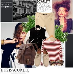 """casual airport fashion"" by febfabiola on Polyvore"