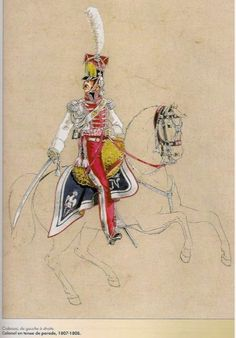 SOLDIERS- Pétard: NAP- France: French Colonel of the Dutch Lancers of the Imperial Guard in parade dress 1807-1808, by Michel Pétard.
