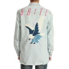 4b10161d95ef OFF WHITE C O VIRGIL ABLOH Eagle Denim Shirt (Bleach)
