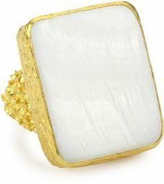 "Azaara ""Hot Rocks"" Mother-of-Pearl Ring, Size 8 Azaara. $87.13"