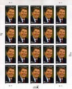 President Ronald Reagan 20 x 39 cent US Stamps 4078 NEW . $18.89. One (1) full sheet of the Ronald Reagan 20 x 39 cent United States U.S. Postage stamps In mint condition.