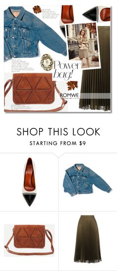 """Romwe camel bag"" by addorajako ❤ liked on Polyvore featuring Santoni, Balenciaga, Ann Taylor and Gucci"