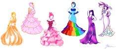 My Little Pony in Formal by ~June-Malatesta on deviantART  - ideas to spark the fashionista's inspiration