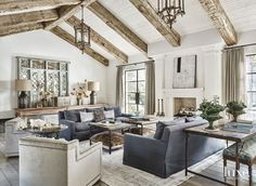 living room with rustic touches | Laurel Pfannenstiel Interior Desgin