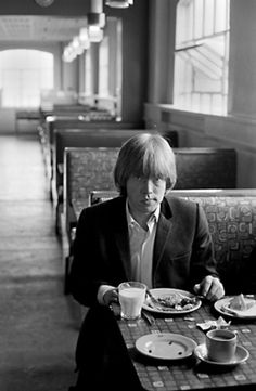 A really cool shot of The Rolling Stones Brian Jones at a diner taken in the mid 1960s #rollingstones #brianjones