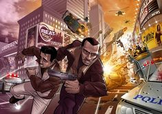 Grand Theft Awesome IV by Patrick Brown Patrick Brown, Grand Theft Auto 4, Fanart, Brown Art, Gaming Wallpapers, Cartoon Games, Video Game Art, Video Games, Best Games