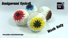 Rainbow Loom Band Amigurumi Crochet Eyeball Charm - Hook ONLY