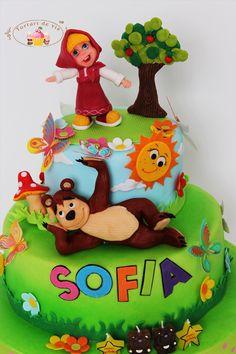 Torturi - Viorica's cakes: Tort Masha si ursul