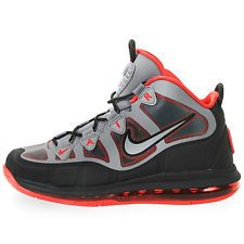 2013 Mens Nike Air Max Uptempo Fuse 360 SZ 10 Cool Grey 97 Hyper Red 555103-002