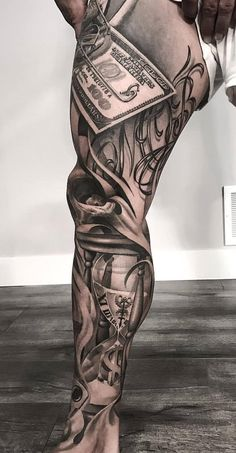 Mob Tattoo, Chicano Tattoos Sleeve, Tattoo Bein, Sick Tattoo, Arm Sleeve Tattoos, Leg Tattoo Men, Body Art Tattoos, Arabic Tattoos, Best Cover Up Tattoos