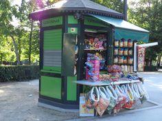Golosinas en el Parque del Retiro.