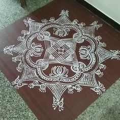 Indian Rangoli Designs, Simple Rangoli Designs Images, Rangoli Designs Flower, Small Rangoli Design, Rangoli Patterns, Rangoli Ideas, Kolam Rangoli, Flower Rangoli, Beautiful Rangoli Designs