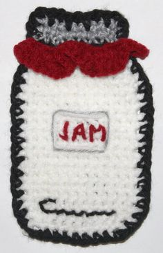 crochet potholder patterns Free Crochet Pattern for Cute Mason Jar Would make a cute potholder for a country kitchen. Crochet Potholder Patterns, Crochet Dishcloths, Crochet Motif, Crochet Doilies, Free Crochet, Crochet Appliques, Crochet Granny, Knitting Patterns, Crochet Food