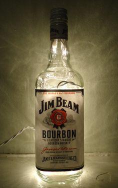 Jim Beam Glass Bottle Light by TheFullerLife on Etsy, $20.00