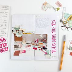 Alphas, stickers and die cut pieces left over from kits are perfect for embellishing a photo in your Traveler's Notebook and a great w...