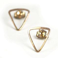 Fab.com | Isosceles Post earrings