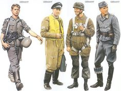 WW2 - Germany - 1939 Sep., Poland, Corporal, Infantry Regiment Germany - 1940 June, France, Major, Luftflotte 2, Bomber unit Germany - 1940 May, Belgium, NCO, 1st Fallschirmjäger Regiment Germany - 1942 Mar., Ukraine, Captain, Luftwaffe Fighter unit