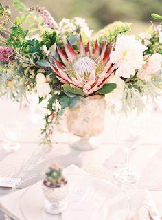 New Ideas Simple Succulent Wedding Center Pieces Protea Wedding, Floral Wedding, Wedding Bouquets, Wedding Flowers, Floral Centerpieces, Wedding Centerpieces, Floral Arrangements, Wedding Decorations, Purple Succulents