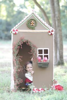 Sweet cardboard gingerbread house.