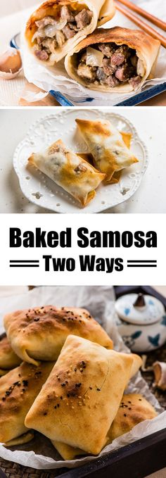Baked Samosa - the moist and rich lamb onion filling is wrapped in a crispy crust. A great appetizer or party snack | omnivorescookbook.com