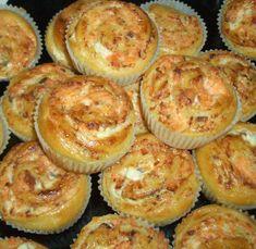 Savulohi-tuorejuustohyrrät - Mimmin keittiö - Vuodatus.net - Tapas, Muffin, Cheese, Fish, Baking, Eat, Breakfast, Pancakes, Morning Coffee