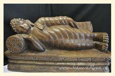 Buddha liegend, massives Hartholz, Nepal dunkelbraun  L: 24 cm H: 24 cm T: 12 cm  http://www.schmuckraum.ch/online-shop/deko/buddha-liegend.php