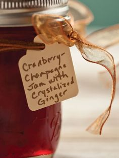 How to use up that left over Champagne and cranberries. This sounds wonderful.