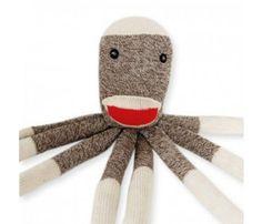 Sock Monkey Dog Toy.