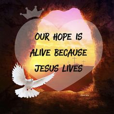 Jesus is alive and it is because He lives we have hope today, tomorrow, and forever! It's all about Jesus. Praying this morning that the message of hope will be received and lives transformed. Hope everyone has a very blessed Easter!