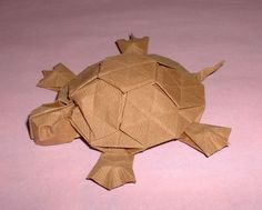 origami tortoise. Tons of other great animals here too!