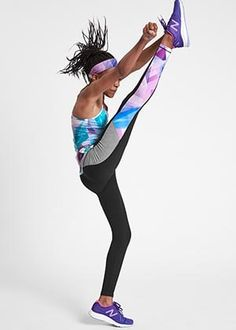 3d12ccdab5f78 girl wearing prism print tights Colorful Leggings, Print Tights, Active  Wear, Girl Fashion