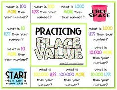 Practising Place Value