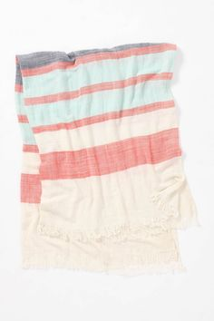 @anthropologie crinkled-stripe throw: Perfect for summer nights!   $78