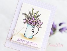 Louise Sharp: Be Inspired Design Team Hop Flowers Nature, Card Sketches, Watercolor Paper, Stampin Up Cards, Pink Girl, Stamping, Birthday Cards, Paper Crafts, Design Inspiration