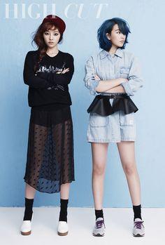 KARA's Hara & Jiyoung // High Cut Korea