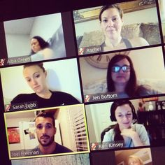 GUYS GUYS GUYS!!! See my face in the upper right hand corner? That's me COMPLETELY GEEKING OUT to be on a LIVE team call with @joelfreemanfitness to talk about @coredeforce!!! Getting the inside scoop straight from the Trainer!! I can't wait until this program launches next month!!! #coredeforce #fightforit