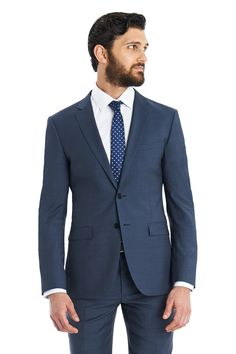 DKNY Slim Fit Petrol Blue 2-Piece Suit