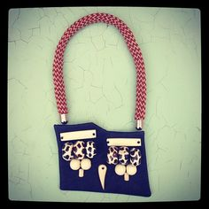 #unique #piece #rope #leather #colors #bone #african #beads #ethnic #asymmetrical #love #jewelry #necklace #cool