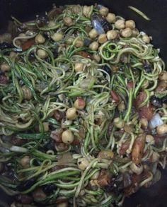 Zucchini pasta, paste de calabacita, noodles de calabaza.  Cocina limpio desde tu casa, comida limpia desde mi cocina. Clean paleo recipies in less than half an hour.