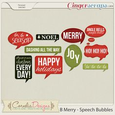 B Merry - Speech Bubbles by Cornelia Designs