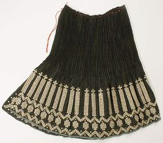 Skirt | Romanian | The Met Date: late 19th century Medium: wool, silver metal