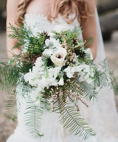Malibu forest bouquet | Rustic wedding details http://greenweddingshoes.com/romantic-malibu-forest-wedding-kate-ryan/