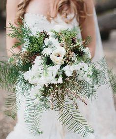 Malibu forest bouquet | Rustic wedding details  http://greenweddingshoes.com/romantic-malibu-forest-wedding-kate-ryan/