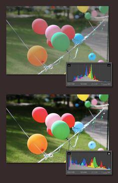 Histogram in Adobe Photoshop Lightroom