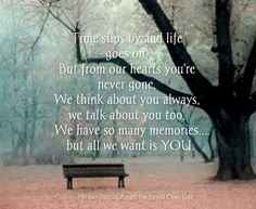 I wish u were here Mom. We miss you so much..Things are not the same anymore...